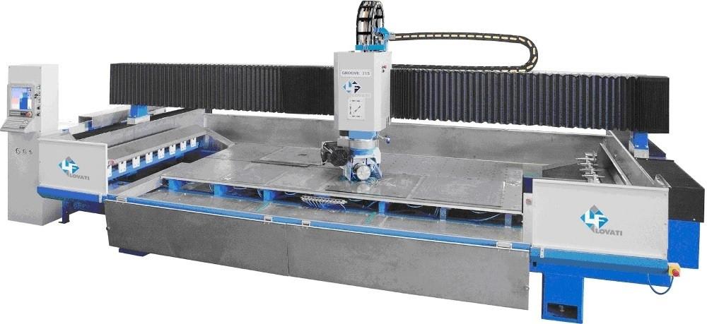 Автоматическая машина с числовым программным управлением, тип GROOVE для гравирования стекла, шлифования и полировки прямолинейной и фигурной гравировки. GROOVE