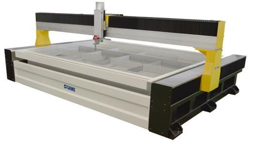 Портальная универсальная система резки стекла гидроабразивной струёй 50HB