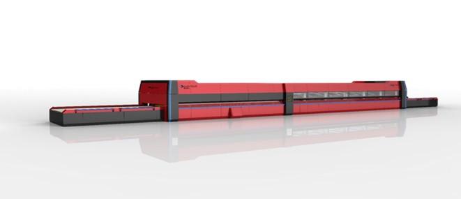 Горизонтальная печь для закалки листового стекла с верхней и нижней конвекцией TPG - A