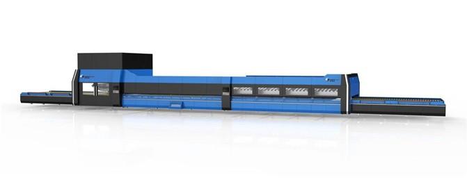 Горизонтальная печь для закалки листового стекла с блоком поперечного моллирования NTPWG - A + HWG - A